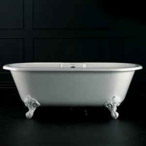 Cheshire Freestanding Bath with Overflow & Cheshire Feet Quarrycast 1750x800mm White