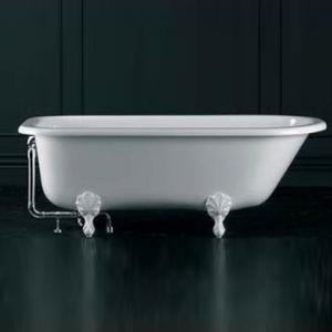 Hampshire Freestanding Bath with Overflow Hampshire Feet Qarrycast 1705x780mm White