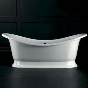 Marlborough Freestanding Bath with Overflow & Marlborough Base with Overflow 1890x860mm White