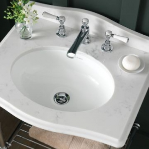 Kaali 46 Oval Under Slung basin with Overflow 466x353x140mm White