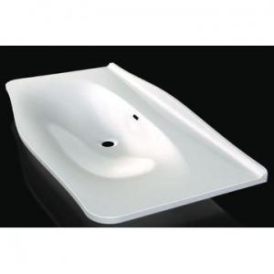 Mandello 114 Solo Countertop Basin no Tap Hole 1145x579x185mm White