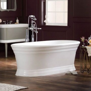 Worcester Traditional Dbl-Ended Bath with Plinth no Overflow 1789x781x597mm White