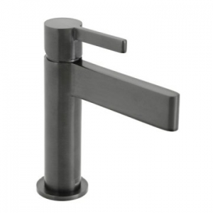 Edit Single Lever Mono Basin Mixer Smooth Bodied Black