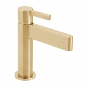 Edit Single Lever Mono Basin Mixer Smooth Bodied Brushed Gold