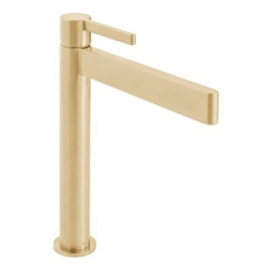 Edit Extended Single Lever Smooth Bodied Mono Basin Mixer Brushed Gold
