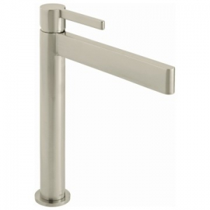Edit Extended Single Lever Smooth Bodied Mono Basin Mixer Brushed Nickel