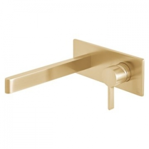 Edit Wall Mounted Single Lever Mixer with Wall Spout 220mm Brushed Gold