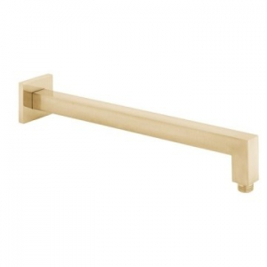 Shower Arm Square Easy Fit 400mm Brushed Gold