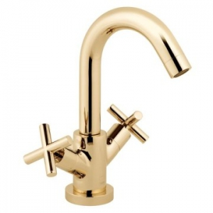 Elements Single Lever Mono Basin Mixer Smooth Bodied Bright Gold
