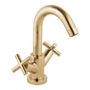 Elements Single Lever Mono Basin Mixer Smooth Bodied Brushed Gold