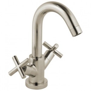 Elements Single Lever Mono Basin Mixer Smooth Bodied Brushed Nickel