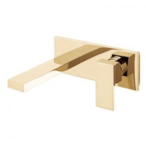 Notion Wall Mounted Single Lever Mixer with Wall Spout 220mm Bright Gold