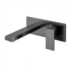 Notion Wall Mounted Single Lever Mixer with Wall Spout 220mm Brushed Black