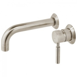 Origins Wall Mounted Single Lever Mixer with Wall Spout 220mm Brushed Nickel