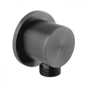Round Wall Outlet Only Black
