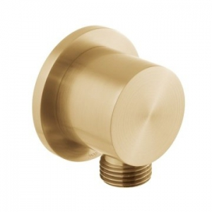 Round Wall Outlet Only Brushed Gold