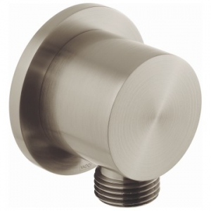 Round Wall Outlet Only Brushed Nickel
