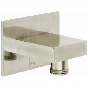 Square Wall Outlet Only Brushed Nickel