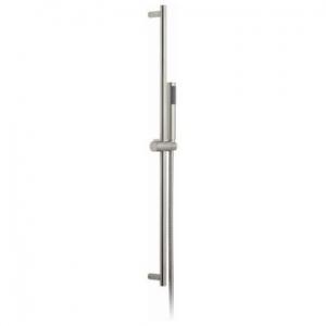 Round Slide Rail Shower Kit with Single-Function Shower Handset 900mm Slide Rail & Hose Brushed Nickel