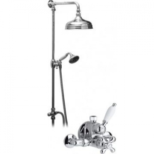 Exposed Thermostatic Shower Set Chrome/White