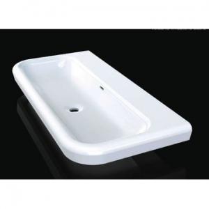 Lario 100 Solo Countertop Basin 1 Pre-Drilled Tap Hole 999 x 479 x 135mm White