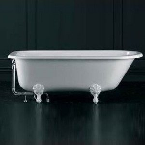 Hampshire Freestanding Bath with Overflow Hampshire Feet Qarrycast 1705x780mm White