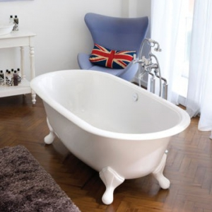 Radford Freestanding Bath with Overflow & Radford Feet w/Englishcast 1904x902mm White