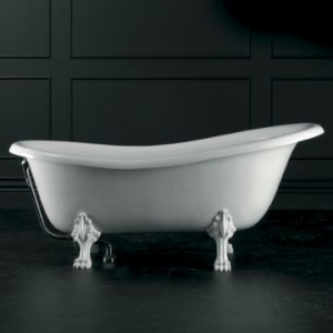 Roxburgh Freestanding Bath with Overflow & Roxburgh Feet Quarrycast 1710x815mm White