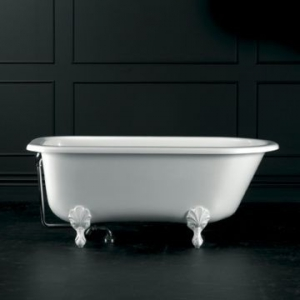 Wessex Freestanding Bath with Overflow & Wessex Feet Quarrycast 1520x765mm White