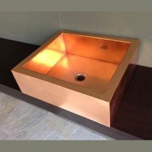 Victorian Side Copper Basins Basin Countertop Rectangular Copper