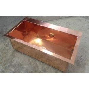 Victorian Side Copper Basins Basin Drop-In Rectangular Copper