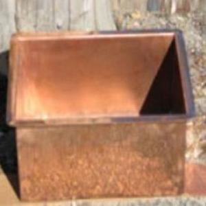 Victorian Side Copper Basins Basin Drop-In Square Copper